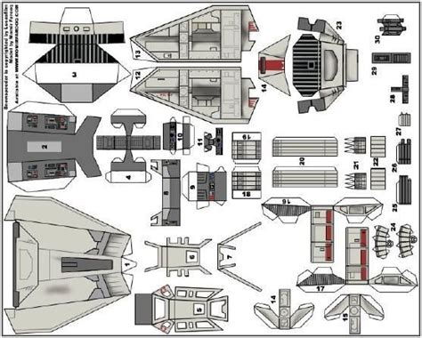 Starwars Papercraft - wars miniature snowspeeder paper model by momir