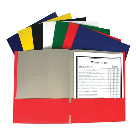 c line recycled two pocket paper portfolio with prongs 1 of 100 folders