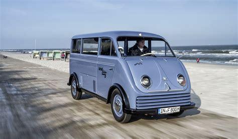 audi minivan audi fully restores 1956 dkw electric schnellaster van