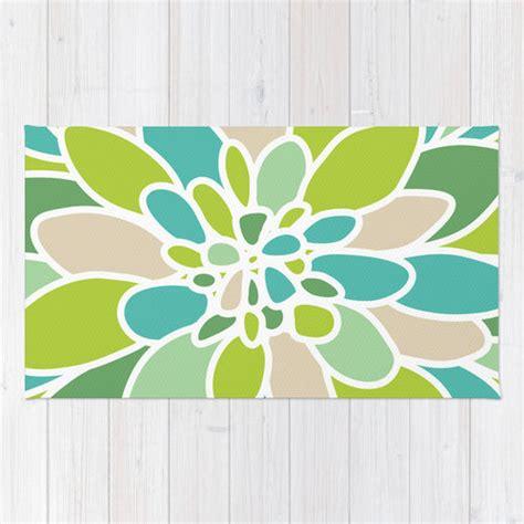 green flower rug modern flower area rug abstract green flower rug green