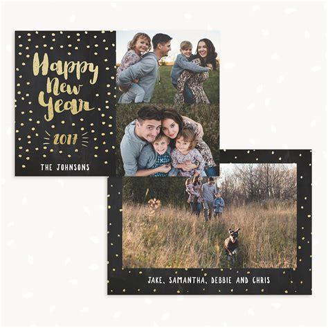 new years card templates for photographers happy new year card template strawberry kit