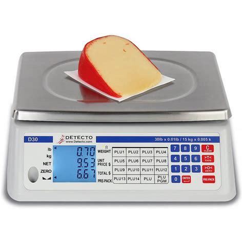 digital price detecto price computing food scale digital 30 lb d30