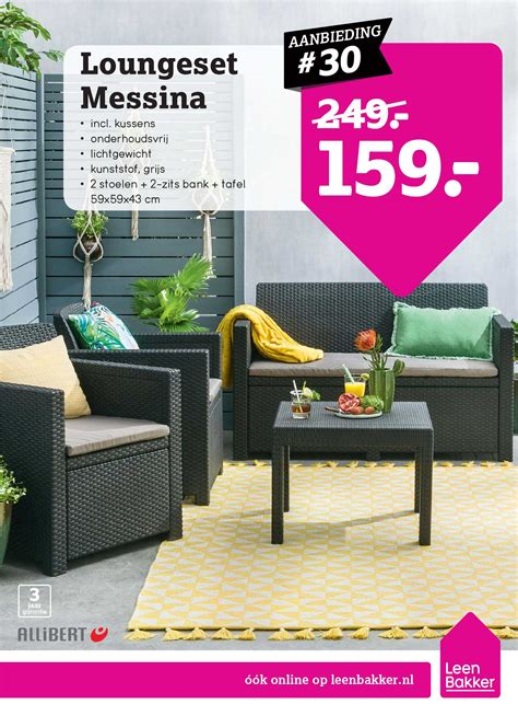 allibert loungeset messina allibert loungeset messina aanbieding bij leen bakker