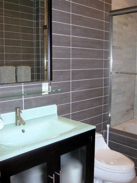 glass tile powder room photo page hgtv