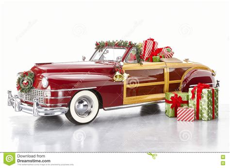 christmas decorated classic car stock photo image 70677062