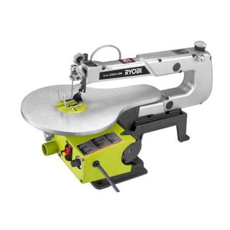 ryobi 1 2 16 in corded scroll saw sc165vs the home