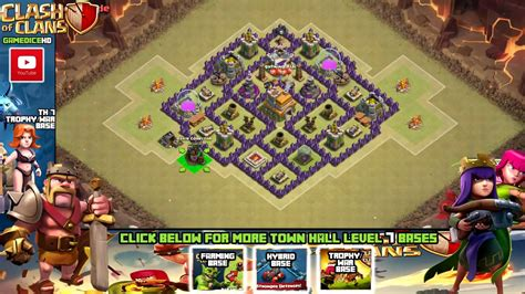 th7 war base layout defense th7 clash of clans goonsquadelite clash of clans town hall 7 defense coc th7 best war base