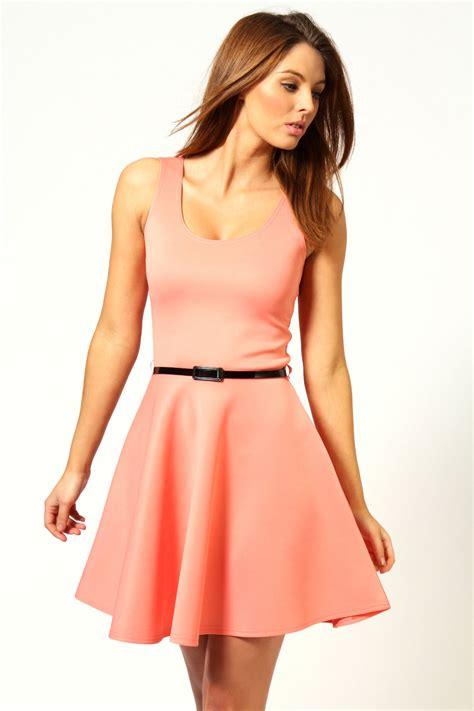 Dress Fashion Skater boohoo womens scoop neck skater dress ebay