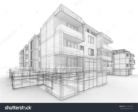 unique apartment building drawing apartment building design concept architects computer generated