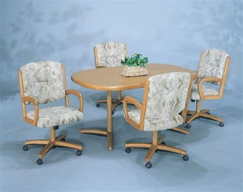 Dining Room Chair Pads With Ties by Dining Room Sets With Chairs On Casters Fresh 5 Pc Douglas