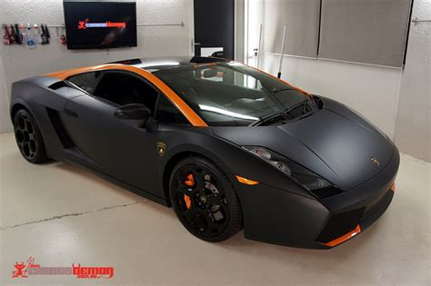 Autofolie Matt Schwarz by Lamborghini Gallardo Matte Black Vinyl Wrap Carbon Demon