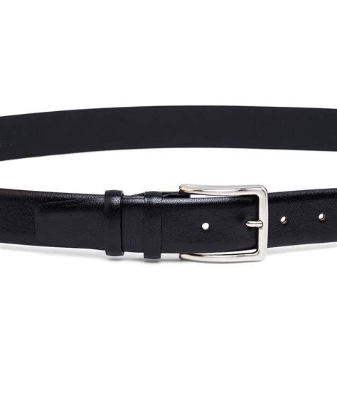 buy smooth mens black leather belt leatherbeltsonline