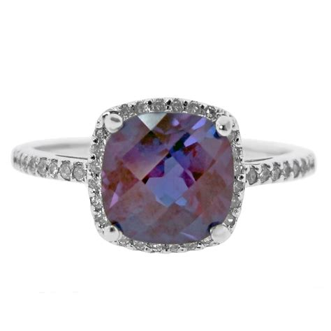 10k white gold 1 6 ctw and created alexandrite