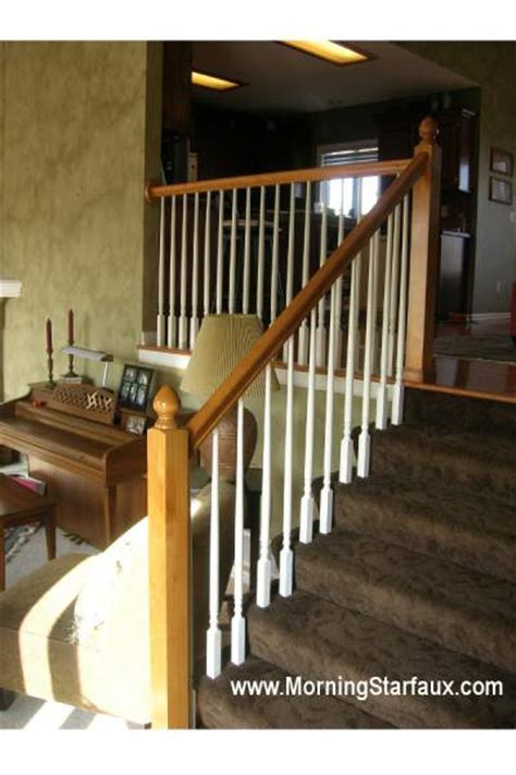 Refinish Banister Railing by Refinishing Railings Kansas City Kitchen Cabinet