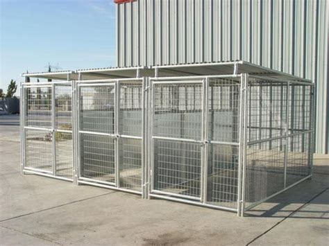 5x10 kennel kennels 3 run kennel w roof shelters fight guard dividers 5 x10