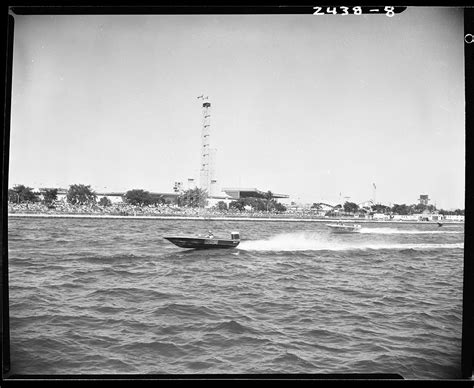speed boat waterfront cne gallery 1960s