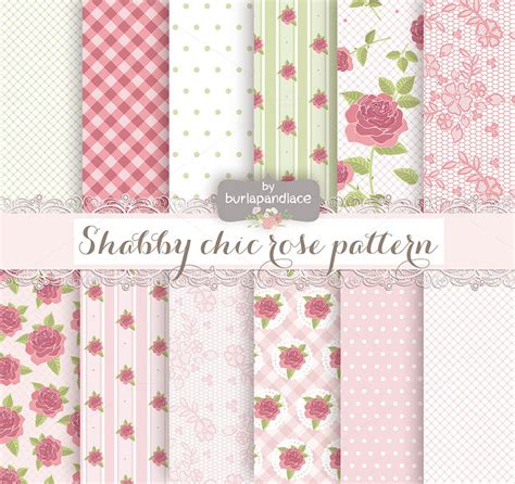 shabby chic pattern green rose patterns on creative market