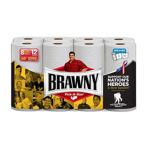 Who Makes Brawny Paper Towels - brawny paper towels rolls a size white