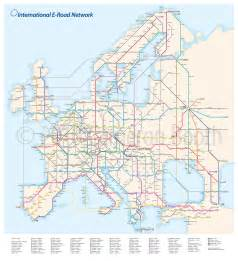 Road Map Of Europe by Project European E Road System As A Subway Diagram