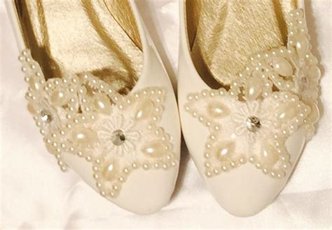 White Lace Flats For Wedding by Ivory White Lace Wedding Flats Bridal Ballet Shoes Lace