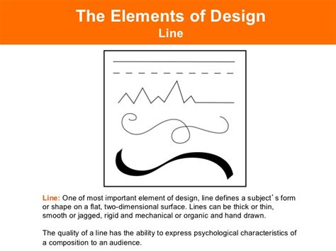 design definition of line elements of design