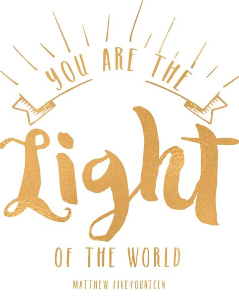 You Are The Light you are the light matthew 5 14 seeds of faith