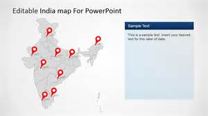 India Map Ppt Template by Editable India Map Template For Powerpoint Slidemodel