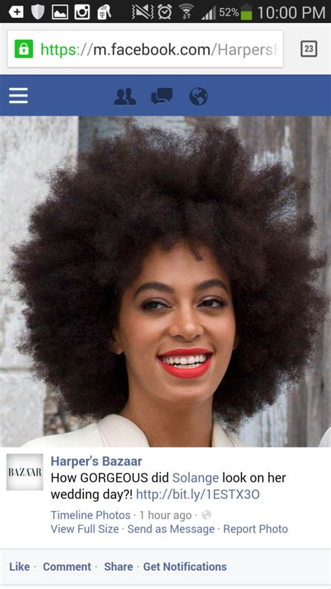 Solange Knowles Hair Type by Solange S Bridal Afro Upsets Standards Huffpost