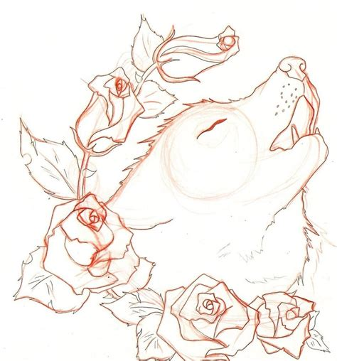 wolf and rose tattoo wolf by naruto32 on deviantart
