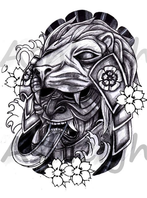 japanese lion tattoo designs japanese mask by tattoosbyashleigh on deviantart
