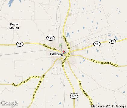 pittsburg texas map pittsburg tx map