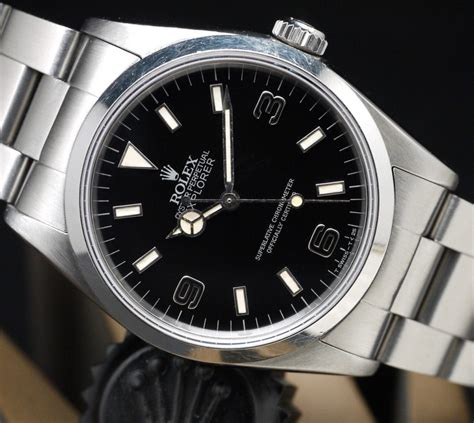 Rolex Explorer Silver Black shedding light on the rolex quot blackout quot explorer 14270