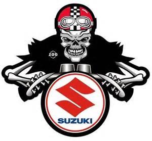 Suzuki Bike Stickers Suzuki Dem Bones Cafe Racer Motorcycle Sticker