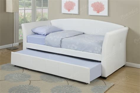 caroline daybed twin size daybed in antique white white faux leather twin size daybed with trundle lowest