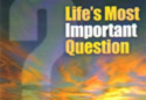 s most important question kjv bmh books