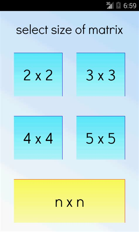calculator determinant matrix determinant calculator android apps on google play