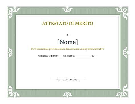 cornice per attestato certificati office