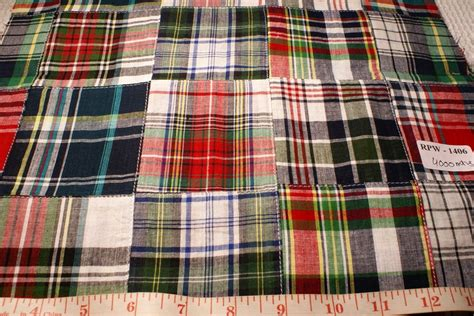 Plaid Patchwork Fabric - patchwork madras fabric made in india cotton patchwork