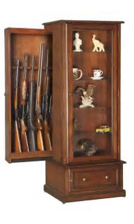 gun cabinet for 10 guns traditional style