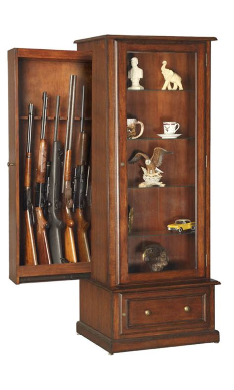 Gun Cabinets by Gun Cabinet For 10 Guns Traditional Style
