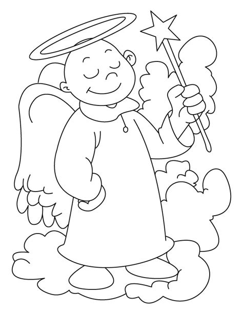 free angel adult coloring pages