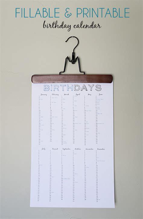 Free Printable  Ee  Birthday Ee   Calendar Curbly