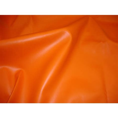 Stretch Upholstery Fabric by Orange 2 Way Stretch Upholstery Faux Leather Vinyl Fabric