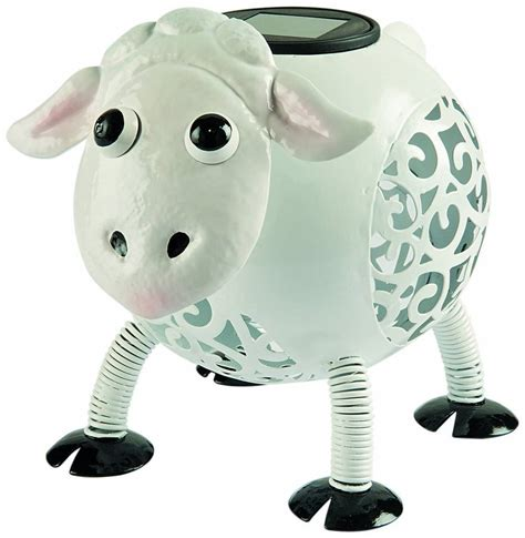sheep lights decorative sheep solar light ornament by garden selections