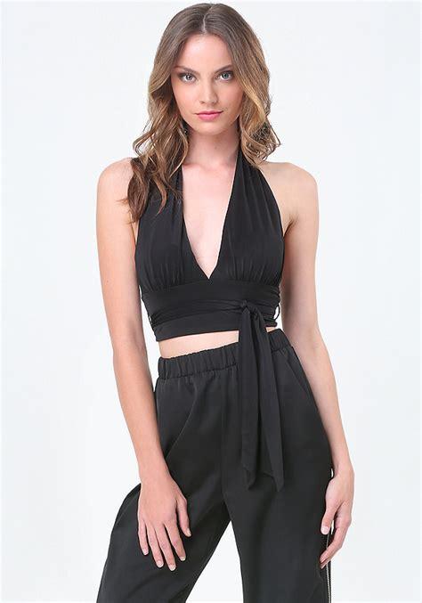 Sale Dress Bebe Halter 1 waist tie halter top bebe