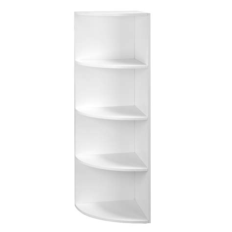 5 Tier Corner Shelf Unit by 5 Tier White Wall Mounted Corner Shelf Storage Shelving