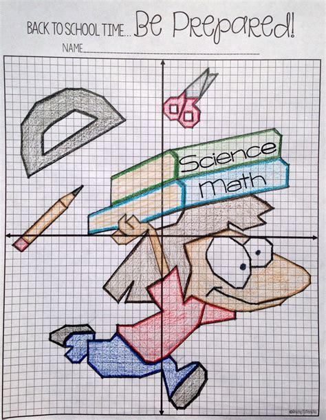 Ordered Back To by Back To School Plotting Points Mystery Picture Math