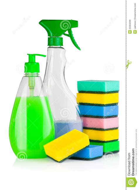 house cleaning supplies stock image image of disinfectant