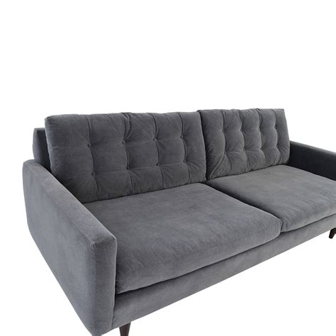 gray mid century sofa 62 off crate and barrel crate barrel petrie mid