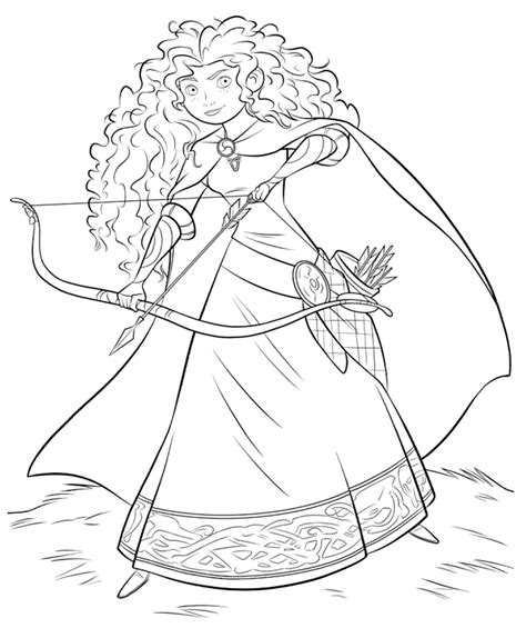 disney coloring pages merida merida coloring page brave birthday party pinterest